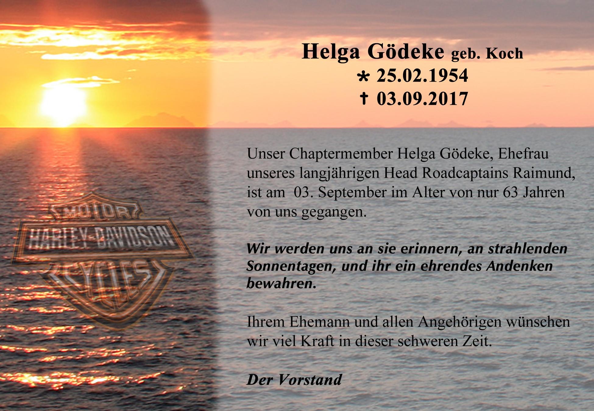 Nachruf Helga Gödeke