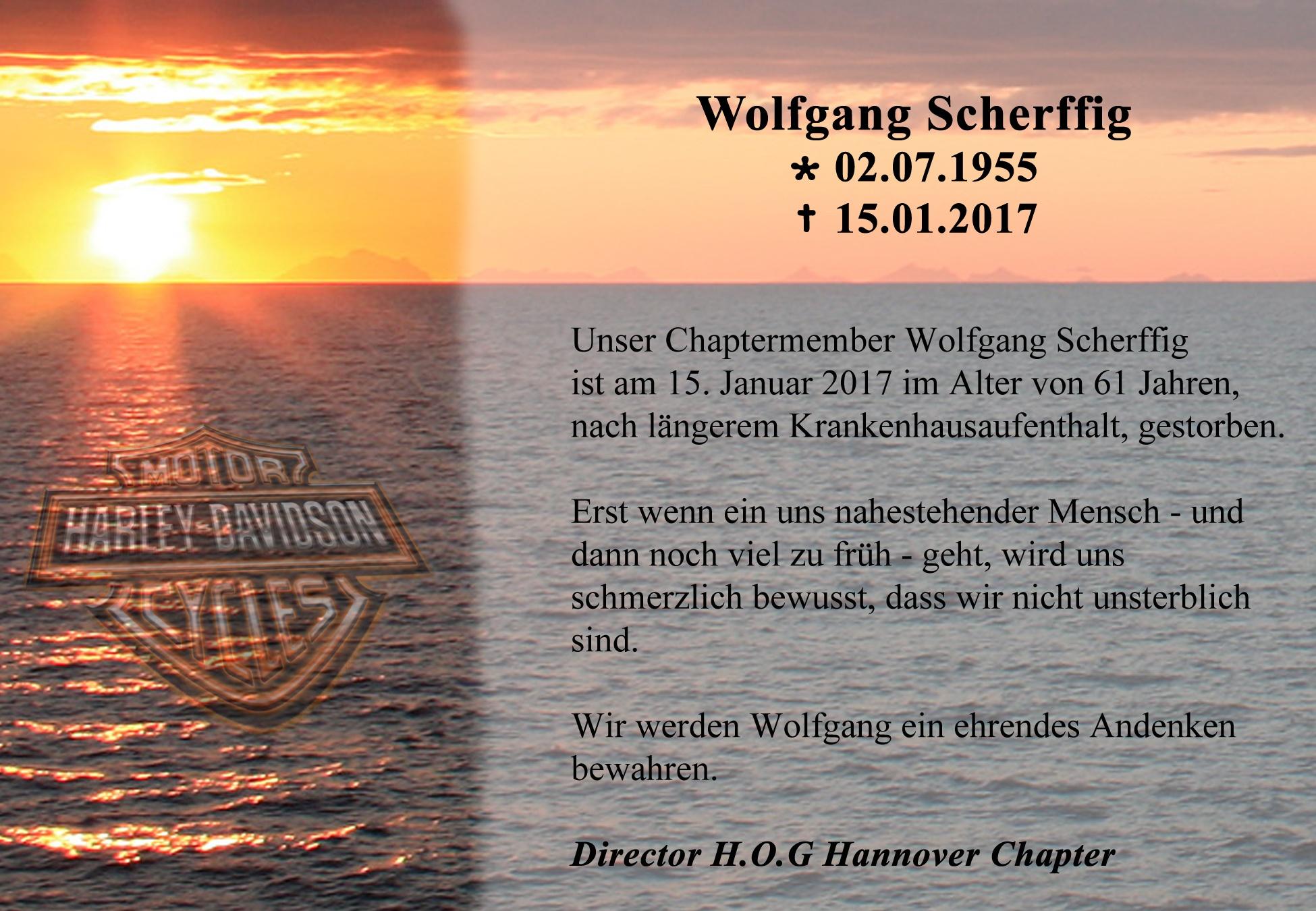 Nachruf Wolfgang Scherffig