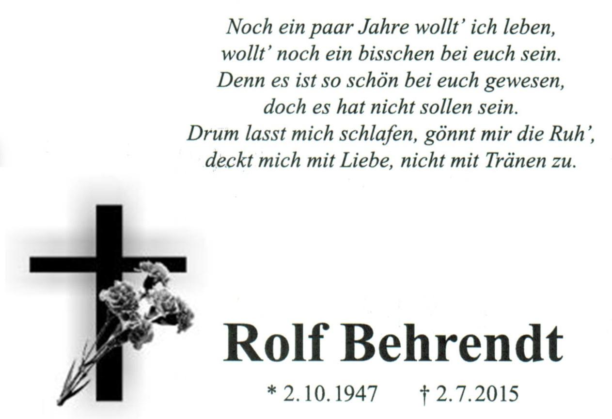 Nachruf Rolf Behrendt