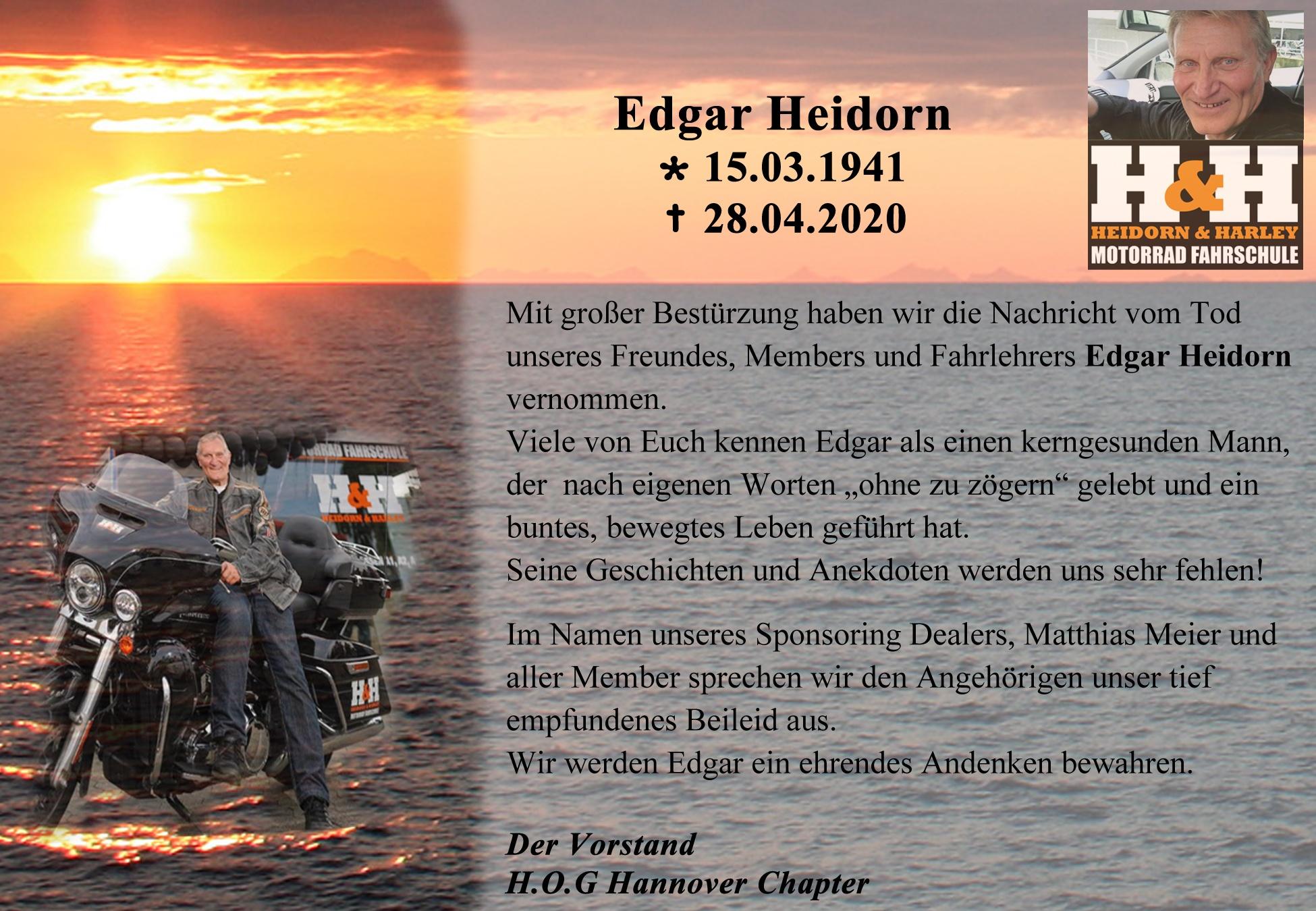 Nachruf Edgar Heidorn